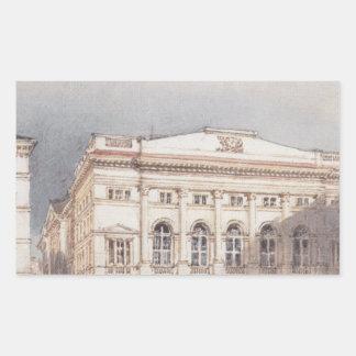 -ウィーンのオーストリアの邸宅を下げて下さい 長方形シール