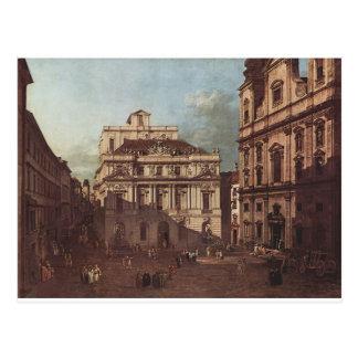 ウィーンの大学の前の正方形の眺め ポストカード