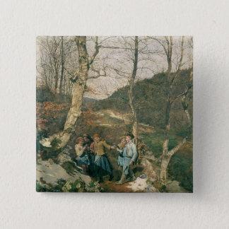 ウィーンの森の早い春 5.1CM 正方形バッジ