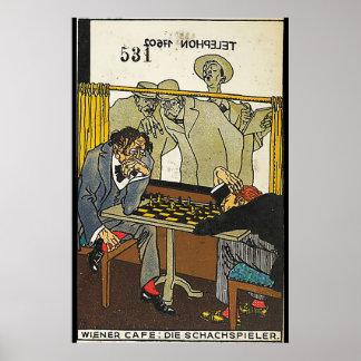ウィーンのCafé: チェスをする人(ウインナーCafé: 死んで下さい ポスター