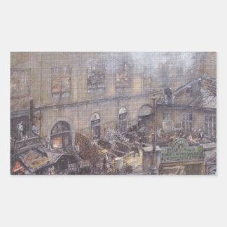 ウィーンのKitschelt Skodagasseの鉄鋳物場 長方形シール