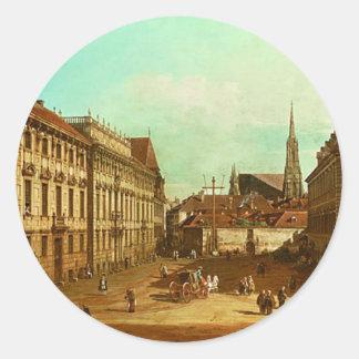 ウィーンのLobkowicz宮殿の眺め ラウンドシール