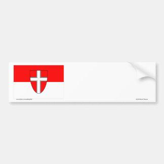 ウィーン、オーストリアの旗 バンパーステッカー