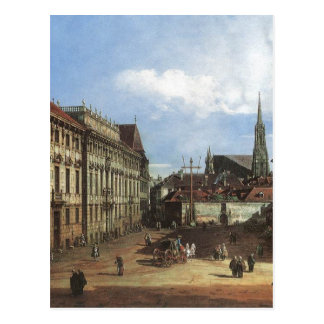 ウィーン、バーナードBellotto著Lobkowitzplatz ポストカード