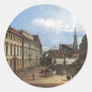 ウィーン、バーナードBellotto著Lobkowitzplatz ラウンドシール