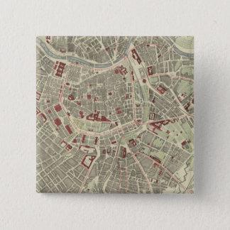 ウィーン 5.1CM 正方形バッジ