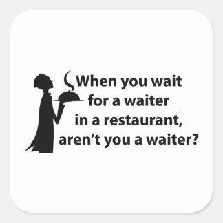 ウェイターありませんか。 スクエアシール