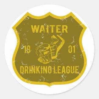 ウェイターの飲むリーグ ラウンドシール