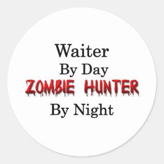 ウェイターまたはゾンビのハンター ラウンドシール
