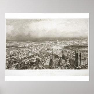 ウェストミンスター寺院からのロンドンの鳥瞰的な眺め、 ポスター