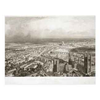 ウェストミンスター寺院からのロンドンの鳥瞰的な眺め、 ポストカード