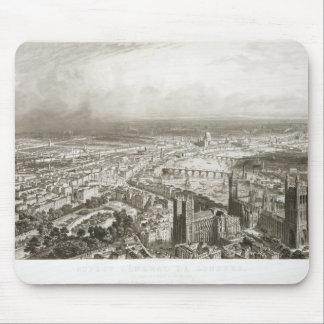ウェストミンスター寺院からのロンドンの鳥瞰的な眺め、 マウスパッド