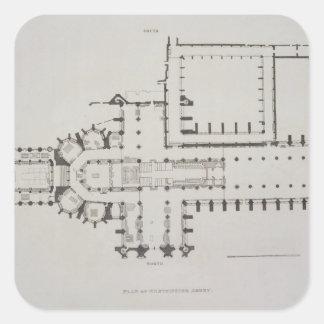 ウェストミンスター寺院の計画は、「Westminstからの1つをめっきします スクエアシール