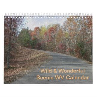 ウェストヴァージニアのカスタムなカレンダー カレンダー