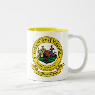 ウェストヴァージニアのシール ツートーンマグカップ
