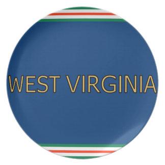 ウェストヴァージニアのメラミンプレート プレート