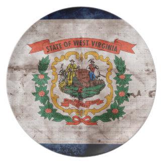 ウェストヴァージニアの古い旗 プレート