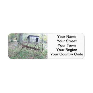ウェストヴァージニアの古い農場 ラベル