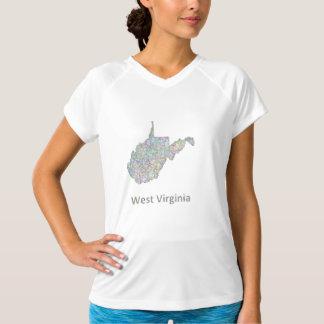 ウェストヴァージニアの地図 Tシャツ