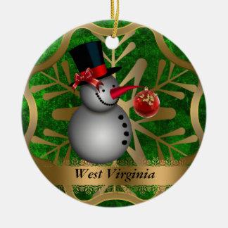 ウェストヴァージニアの州のクリスマスのオーナメント セラミックオーナメント
