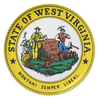 ウェストヴァージニアの州の旗のシール統一されたなアメリカの計算 プレート