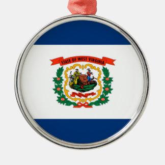 ウェストヴァージニアの州の旗のデザイン メタルオーナメント