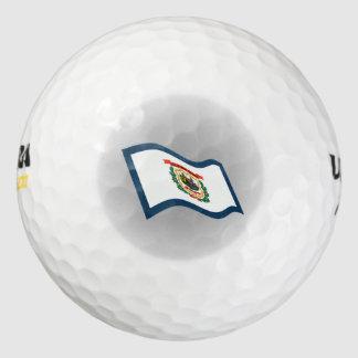 ウェストヴァージニアの州の旗のロゴ ゴルフボール