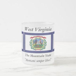 ウェストヴァージニアの州の旗 フロストグラスマグカップ