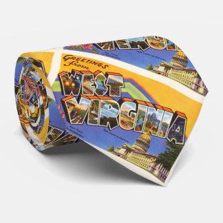 ウェストヴァージニアの州WVの古いヴィンテージ旅行郵便はがき ネクタイ