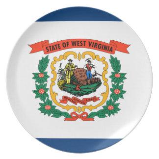 ウェストヴァージニアの旗 プレート