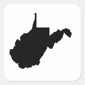 ウェストヴァージニアの米国州 スクエアシール