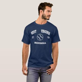 ウェストヴァージニアの野球のレトロのロゴ Tシャツ