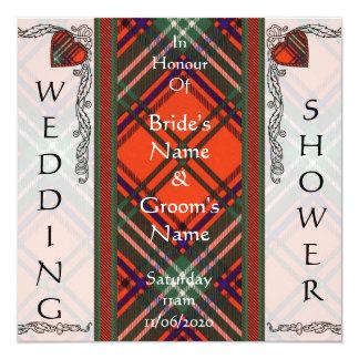 ウェディングシャワーの招待のSetonのタータンチェック カード