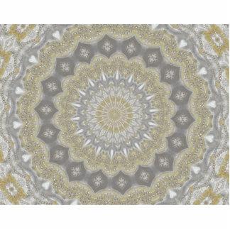 ウェディングドレスの万華鏡のように千変万化するパターン#3 写真彫刻(台付き)