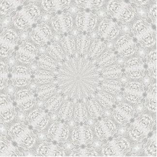 ウェディングドレスの万華鏡のように千変万化するパターン#4 写真彫刻(台付き)