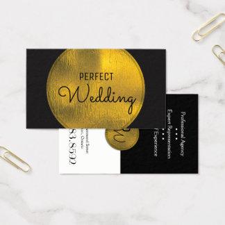 ウェディングプランナーの名刺のスタイリッシュな金ゴールドホイル 名刺