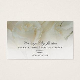 ウェディングプランナーの名刺-白いバラ 名刺