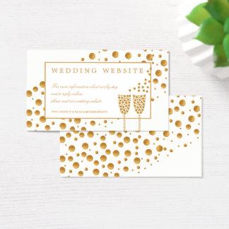 ウェブサイトを結婚する金ゴールドのシャンペンの泡 名刺