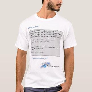 ウェブデザインのForums.netのTシャツ(IEとのCSS) Tシャツ