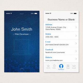 ウェブ開発者- Apple iOSのカスタマイズ可能で平らなデザイン 名刺