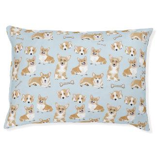 ウェルシュコーギーのペンブローク犬の子犬パターン ペットベッド