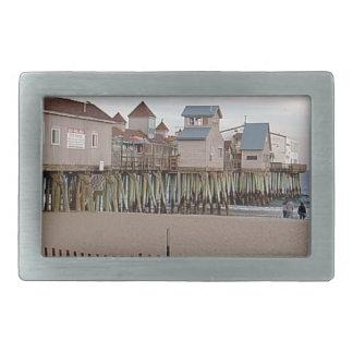 ウェンディーCアレン2004年著古い果樹園のビーチ桟橋 長方形ベルトバックル