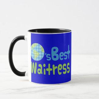 ウェートレス(世界のベスト)のためのギフトのアイディア マグカップ