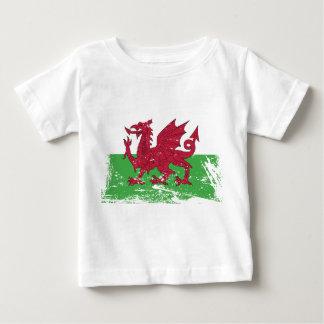 ウェールズのグランジな旗 ベビーTシャツ