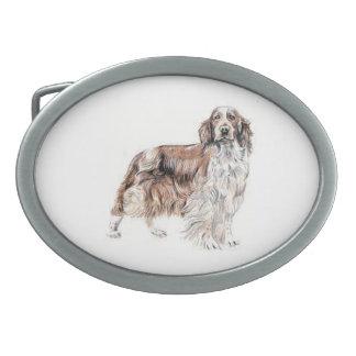 ウェールズのスプリンガースパニエル犬のベルトの留め金 卵形バックル