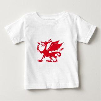 ウェールズのドラゴンのデザイン ベビーTシャツ