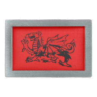 ウェールズのドラゴンのベルトの留め金 長方形ベルトバックル