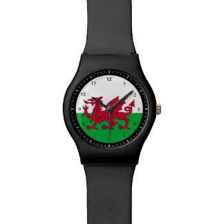 ウェールズのドラゴンの旗の腕時計 腕時計