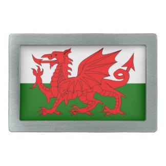ウェールズのドラゴンの旗 長方形ベルトバックル
