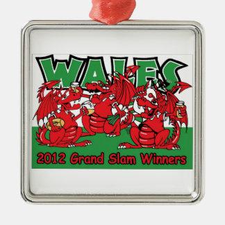 ウェールズのドラゴン、グランドスラムの勝者2012年 メタルオーナメント